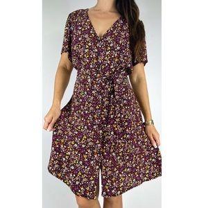 CITY CHIC Floral Belted Dress Plus Size M AU 18